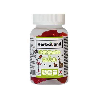 Herbaland Kids Multivitamin ve Mineral Multivitamin 60 Çiğnenebilen Tablet