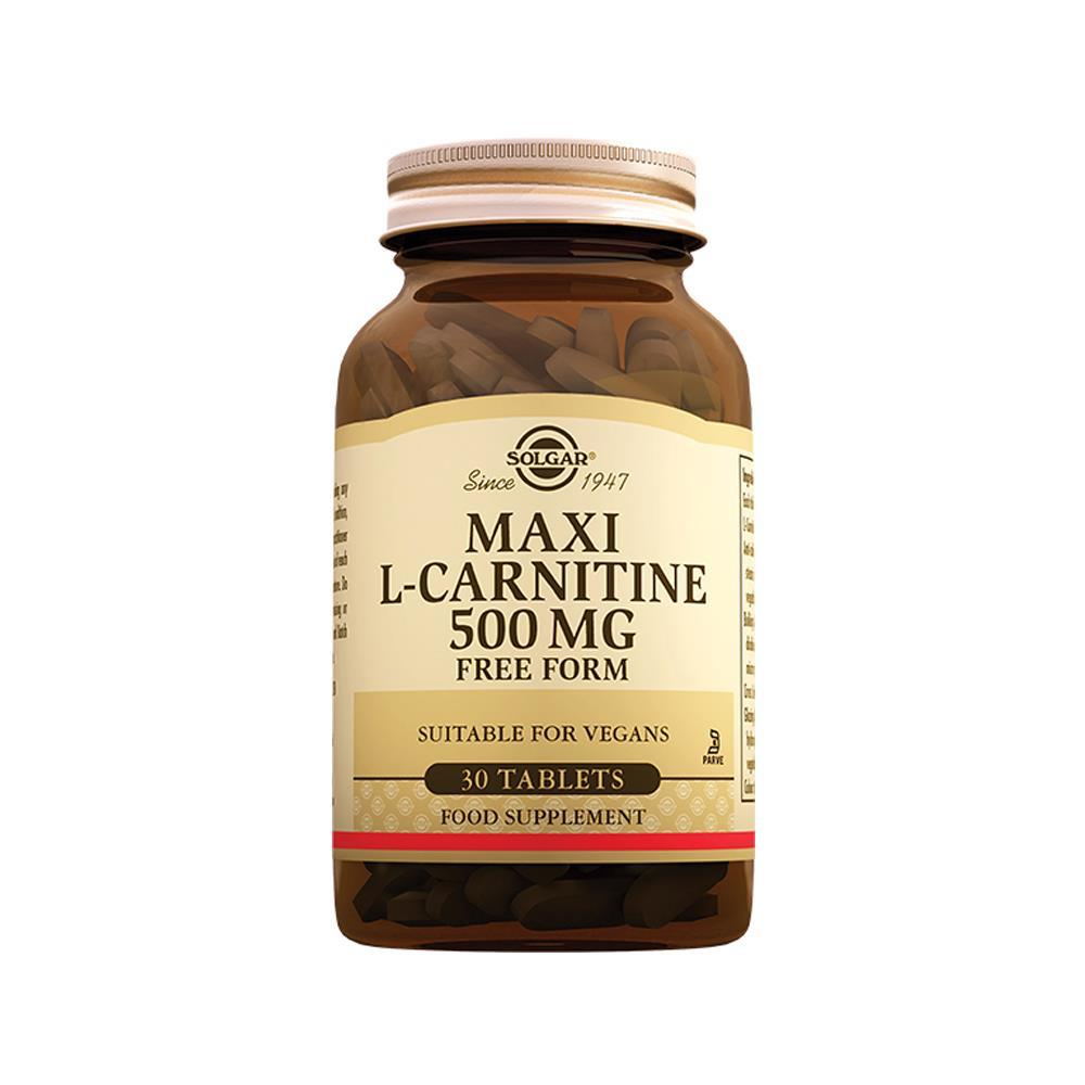 Solgar Maxi L-Carnitin 500 Mg 30 Tablet