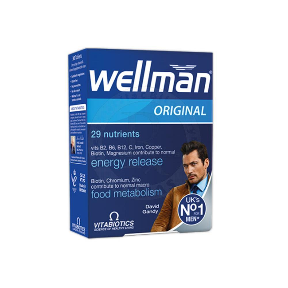 Vitabiotics Wellman Energy Release & immune Function 30 Tablet
