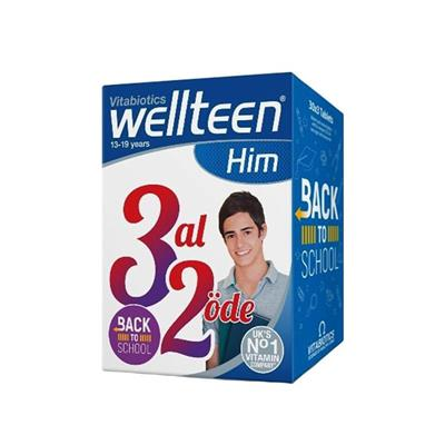 Vitabiotics Wellteen Him 13-19 Years 3 Al 2 Öde