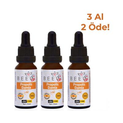 Bee'o Up Propolis %30 Damla 3x20 ml