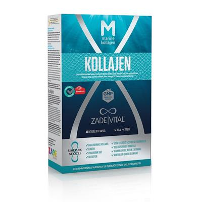 Zade Vital Marine Collagen + Hyaluronic Acid 40 Kapsül